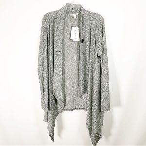 🆕Dana Buchman NWT Gray Wrap Size L